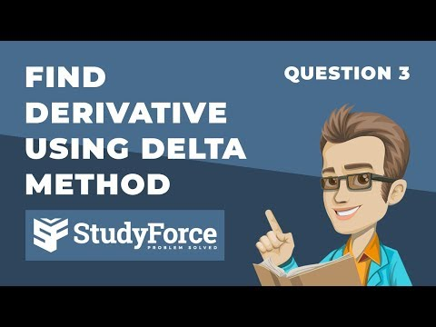 📚 How to find the derivative by the delta method (Question 3)