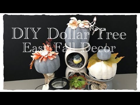 3 Easy DIY Dollar Tree Fall Decor (2018) |How to Paint Styrofoam Pumpkins