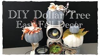 3 Easy DIY Dollar Tree Fall Decor (2018) |How to Paint Styrofoam Pumpkins