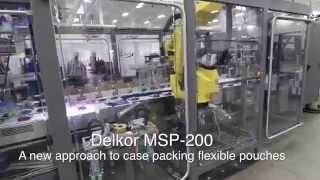 Robotic Pick and Place Case Packing System - Delkor MSP-200 Case Packer