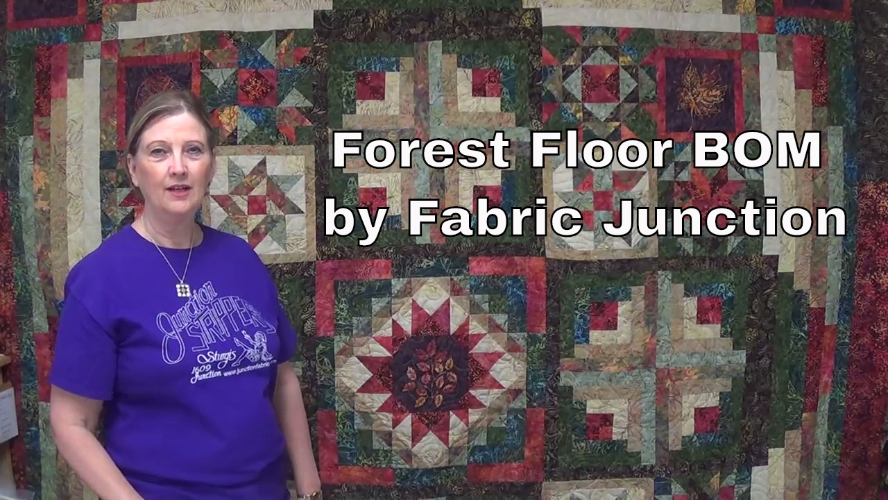 Timeless Treasures Forest Floor Block Of The Month Youtube