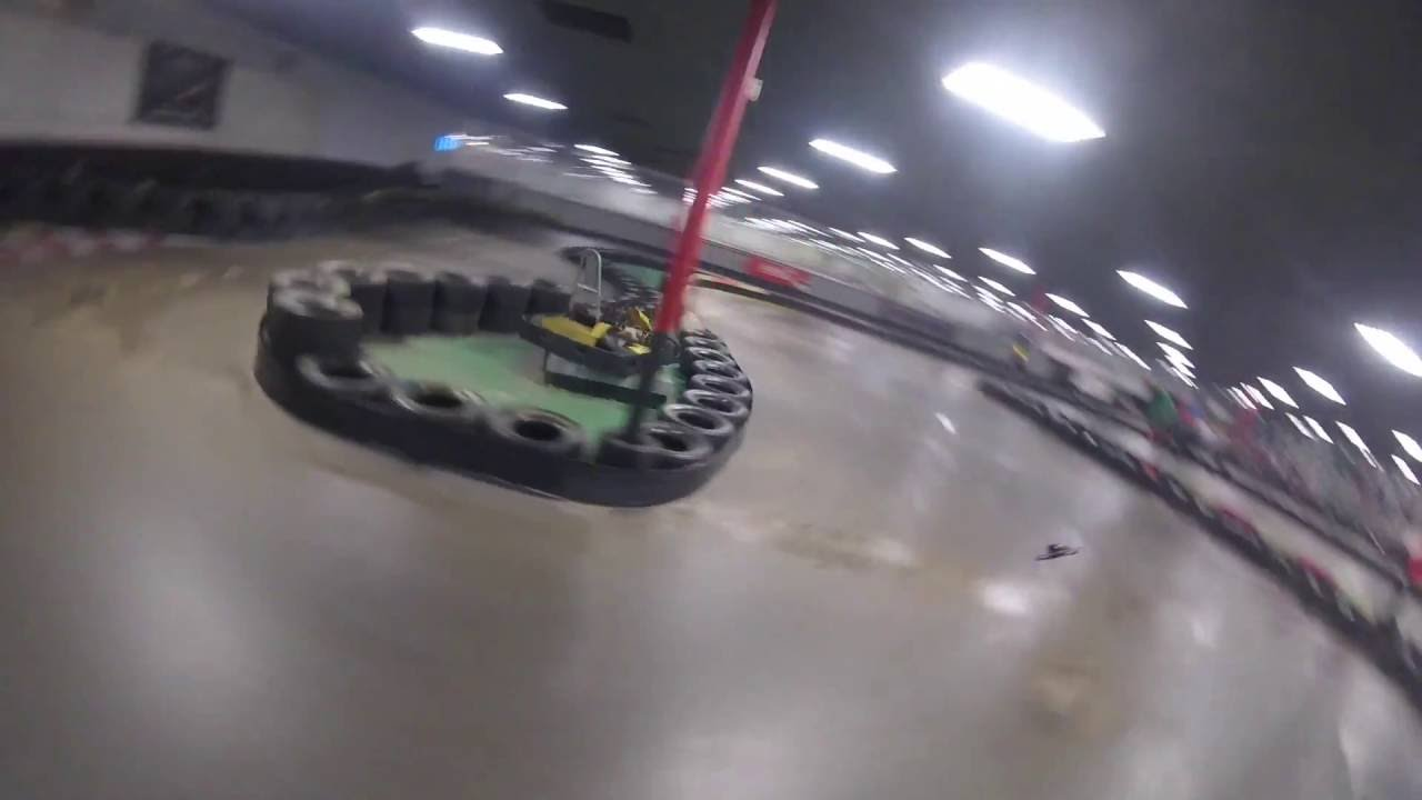 MULTIGP Drone racing on an indoor go kart track - YouTube