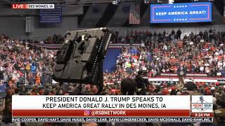 PRESIDENT DONALD TRUMP FULL SPEECH AT KAG RALLY IN DES MOINES, IA 1/30/20