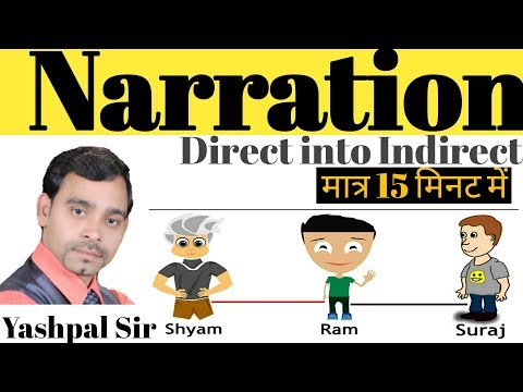 How To Learn Narration | Dircet And Indirect | Speech In English By Yashpal Sir | Vleads Institute