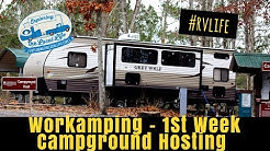 Workamping - Why we are Campground Hosts & Our First Week On-the-Job - Travel Trailer Living