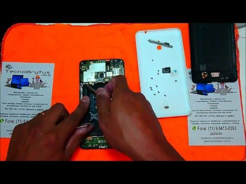 Desmontando Nokia Lumia 1320 disassembly full