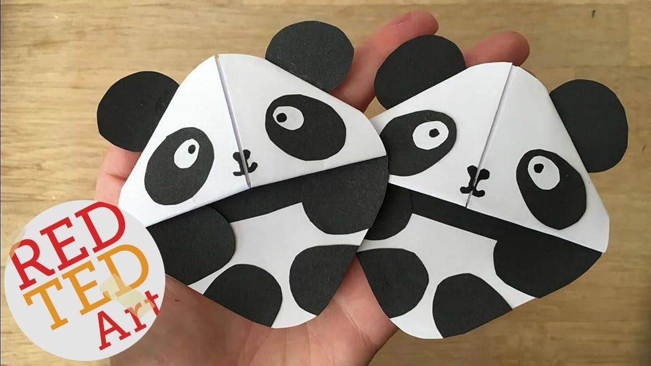 Easy Panda Bear Bookmark DIY Great For Kung Fu Fans Too