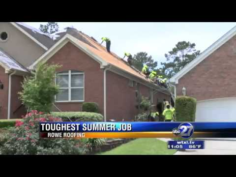 Toughest Job: Roofers Working in the Hot Summer Sun