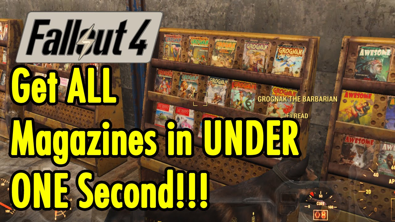 Get All Fallout 4 Magazines in 1 second - Fallout 4 - xBeau Gaming