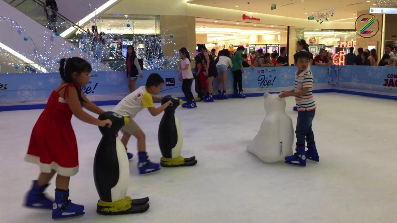 Chơi trượt băng ở Saigon Centre trung tâm Quận 1 ❄ tại Tp Hồ Chí Minh trò chơi trượt băng nghệ thuật