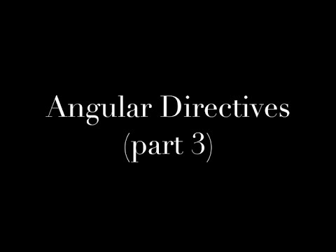 AngularJS Directives (part 3) - Directive Template - YouTube