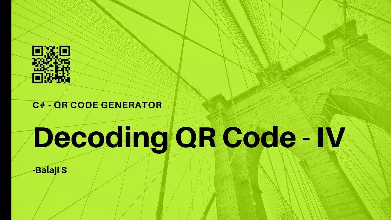 QR Code Scanner - How to Decode QR Code? - C# QR Code Generator - 1 3