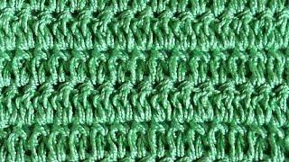 Узор Пышные столбики с накидом - Crochet pattern columns with lush sc