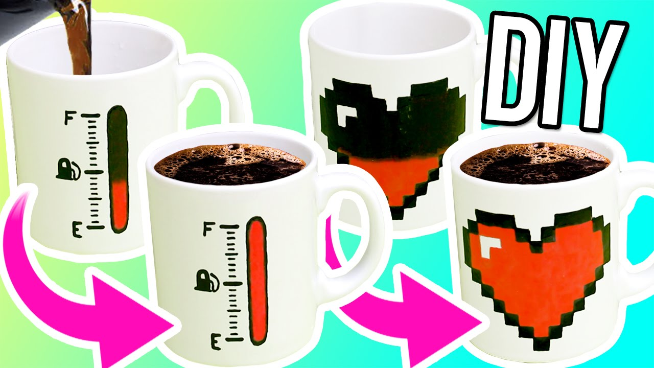 Diy Color Changing Mugs Make Magic Mugs For Gifts Youtube