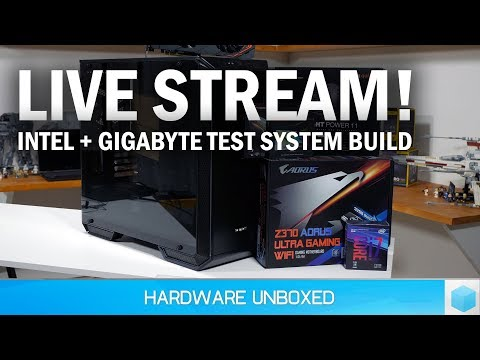 Live: Intel Test System Build Feat. Gigabyte!
