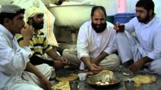The making of Afghan bread in Sharjah