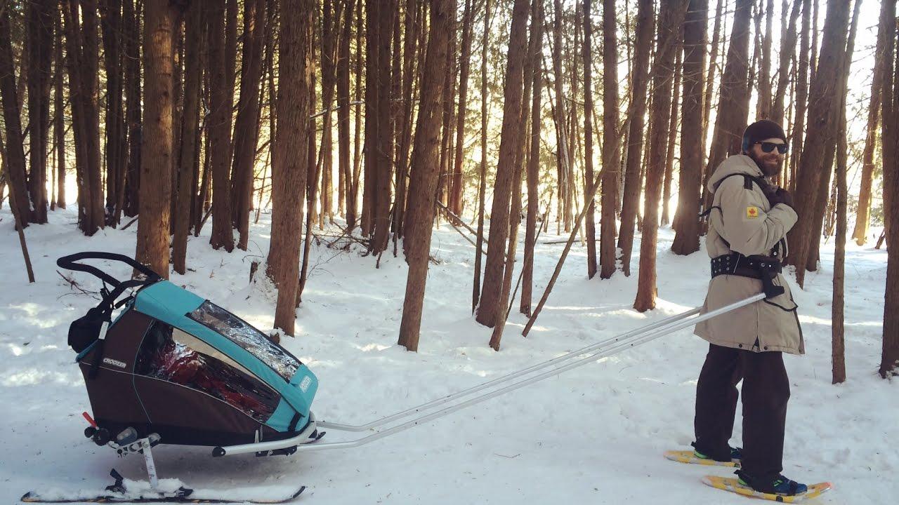 Croozer ski Adaptateur Set avec épaulettes L 235 mm