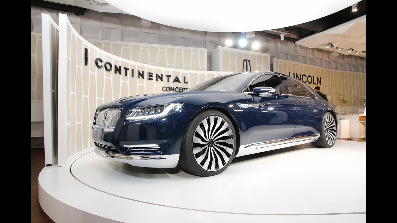 Lincoln Continental Concept unveiled ahead of 2015 New York Auto ...