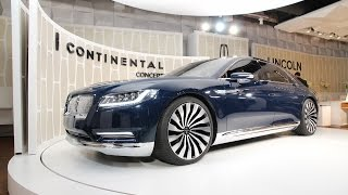 Lincoln Continental Concept unveiled ahead of 2015 New York Auto Show