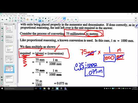 Unit 1 1 1   Measurement Simple Conversions of SI Units using Dimensional Analysis