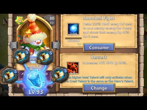 Snowzilla Level 200 Evolved Cracked Out Raiding Zerk With Sprint Castle Clash
