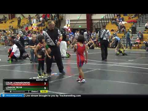 Bantam 49 Colin Lewandowski Pikes Peak Warriors Wrestling Vs London Silva Pomona Elite
