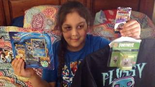 LeeLuvs Pokemon TGC Booster Packs and Fortnite Funko Pop T-shirt and Vinyl Figure Opening