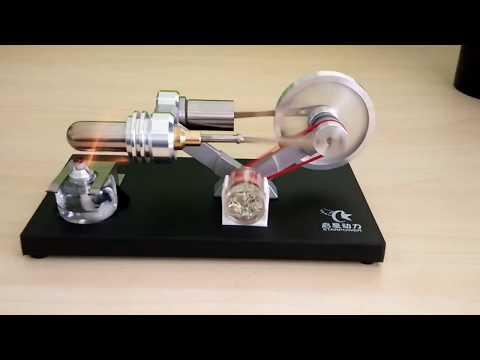 Stirlingkit - Stirling Engine Kit DIY Metal Cylinder With LED Light