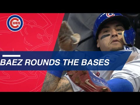 Baez scores all the way from first on WILD play
