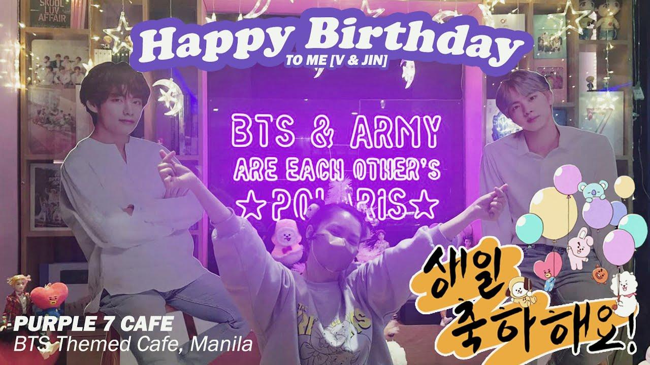 BTS [방탄소년단] Themed Café   Purple 7 Cafè in Manila ♡ HAPPY BIRTHDAY TO ME, JIN, & TAEHYUNG ???