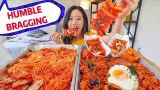 SPICY Korean Kimchi Street Food MUKBANG | Eating Show