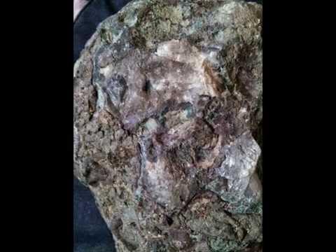 Kimberlite with rough diamonds