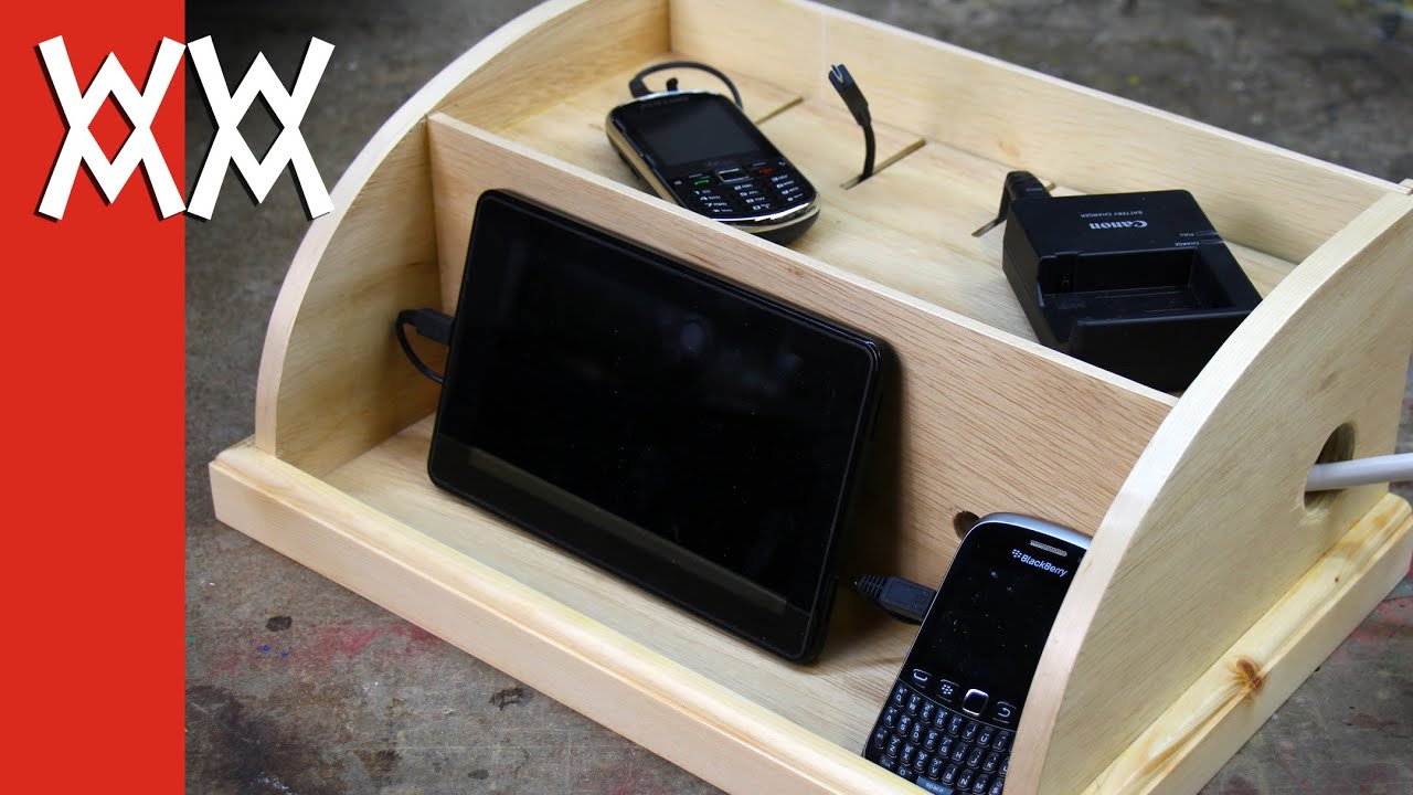 Make a device charging station to organize your phones and ...