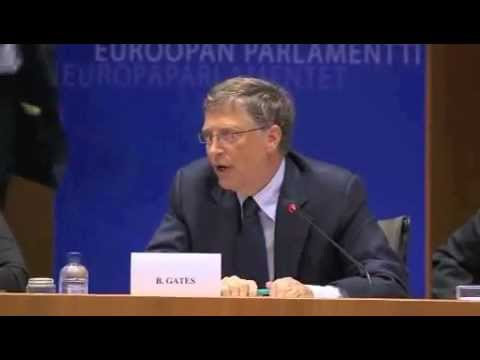 Bill Gates at the European Parliament in Brussels