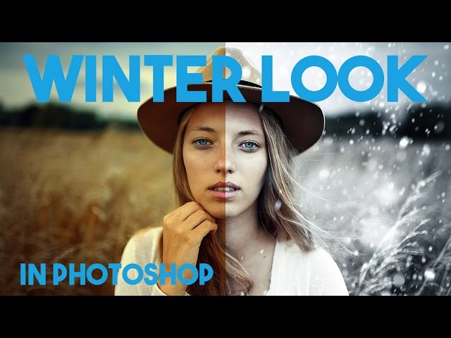 How to Create a Winter Snow Scene in Photoshop - Summer to Winter Tutorial
