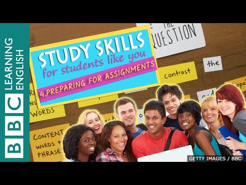 Study Skills – Preparing for assignments