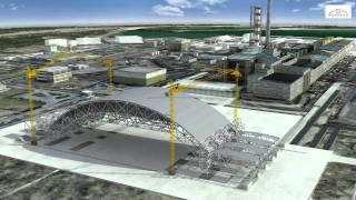 Строительство второго саркофага Чернобыль