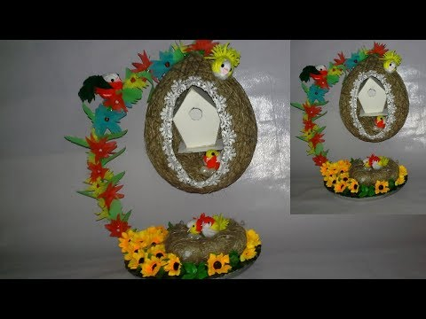 How to make a Bird Nest || Easy DIY Projects||bird nest making with jute||dustu pakhe|