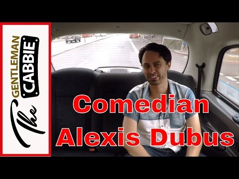Comedian Alexis Dubus tells the funniest joke in the world to taxi driver The Gentleman Cabbie