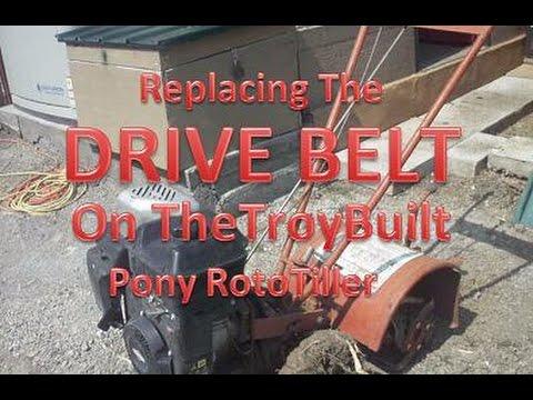 replacing drive belt on troybuilt pony tiller youtube. Black Bedroom Furniture Sets. Home Design Ideas