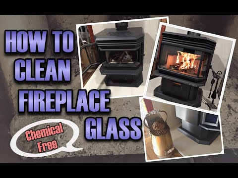 How to clean fireplace door glass, quick and easy without using harsh chemicals. Kids can do it too!
