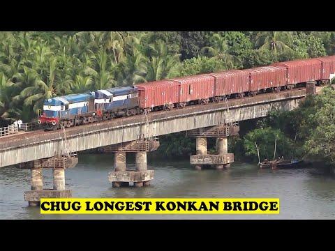Twin ALCO 44 Car Freight Sharavathi River Bridge