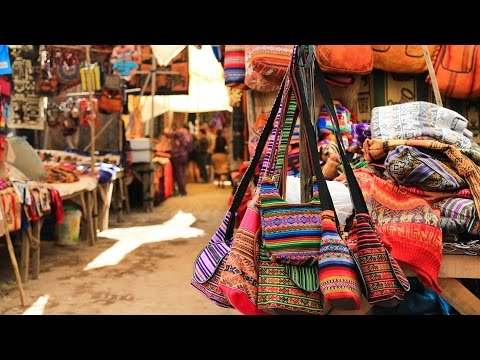Pisac Market near Cusco in Peru