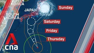 Super typhoon expected to hit Japan this weekend