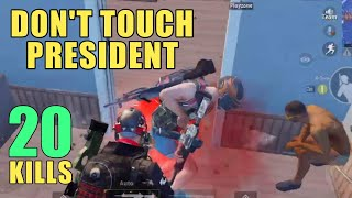 Three Squads Pushed President | PUBG Mobile