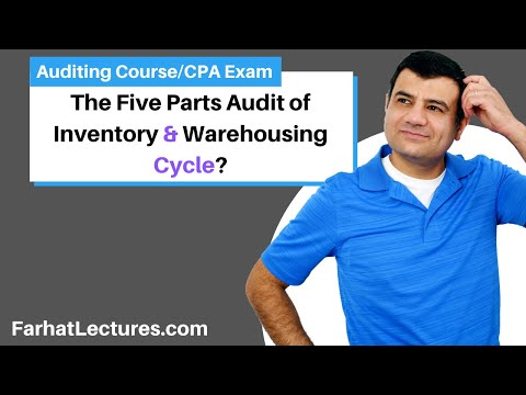 Five Parts Audit Of Inventory And Warehousing Cycle | Auditing And Attestation | CPA Exam