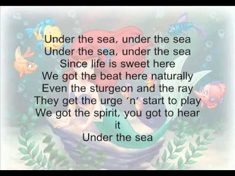 The Little Mermaid | Under the Sea | Lyric Video | Disney ...