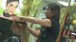 The Keragreen Keratin Treatment application process