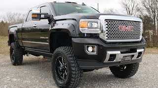 "2016 GMC Sierra 3500 HD Denali Crew Cab 6""  Lift Suspension Duramax call 855-507-8520"