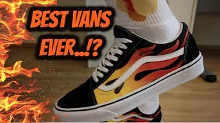ea9025595c7b23 Unboxing Vans Flames